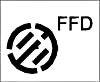 Plumbing pipe and fitting symbols -Funnel floor drain symbol small