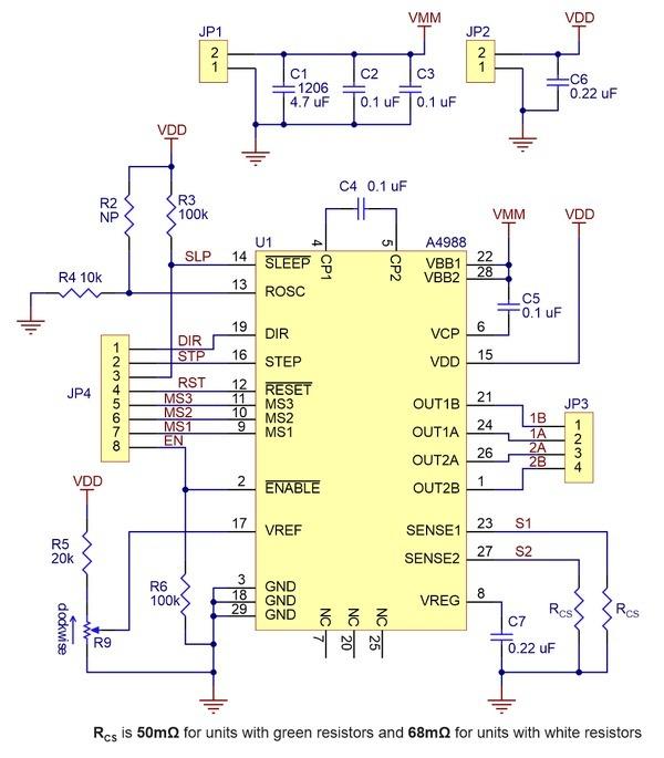 A4988 stepper motor driver circuit diagram for A4988 stepper motor driver