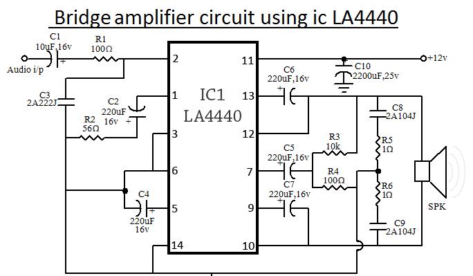 la4440 ic amplifier circuit diagram. Black Bedroom Furniture Sets. Home Design Ideas