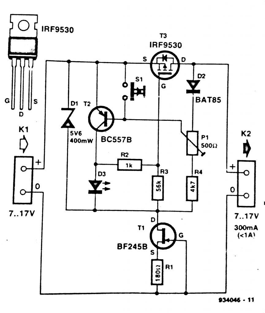 electronic fuse circuit diagram