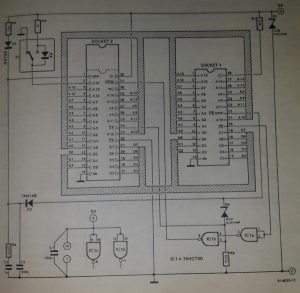 1-Mbit adaptor for EPROM programmer Schematic diagram