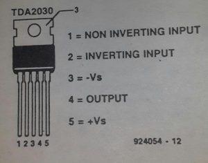 40 W output amplifier d.c.schematic diagram