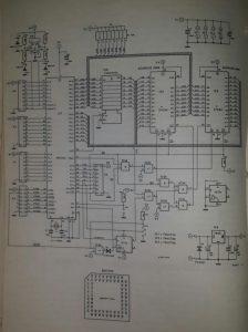 80C552 microprocessor system Schematic diagram