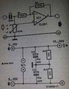 Amplification-attenuation selector