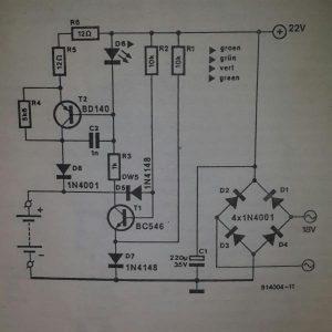 Battery chargerSchematic diagram