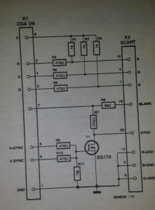 CGA-SCART adaptor Schematic diagram