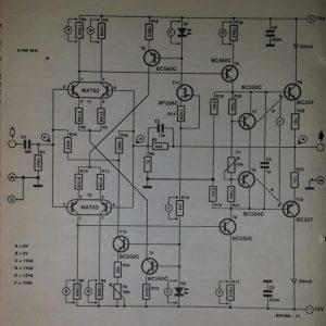 Class A preamplifier Schematic diagram