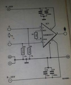 Low-noise amplifier 1 Schematic diagram