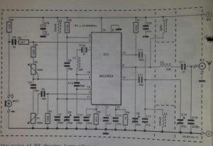 Low power NBFM transmitter Schematic diagram