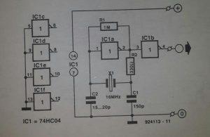 Miniature crystal oscillator Schematic diagram