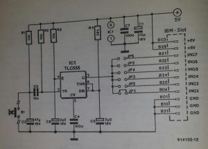 PC interrupt handler Schematic diagram