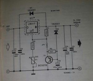 Regulator output delay Schematic diagram