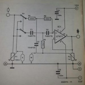 Special band-stop filter Schematic diagram