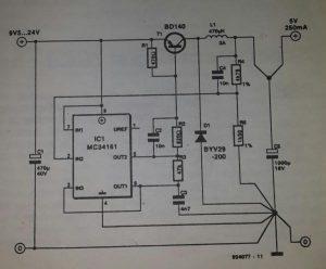 Voltage converter 2 Schematic diagram