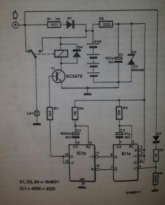 Automatic cycle lights Schematic diagram