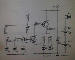 Basic infra-red transmitter Schematic diagram