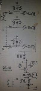Fault signalling circuit Schematic diagram