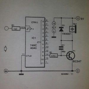 Frequency probe Schematic diagram