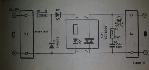 Safe solid-state relay Schematic diagram