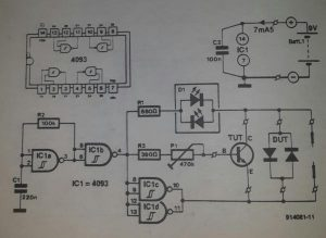Semiconductor tester Schematic diagram