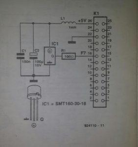 Smartec temperature sensor Schematic diagram