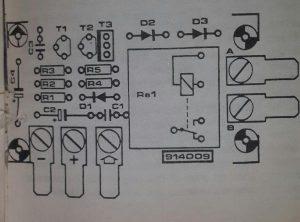 Windscreen wash-wipe circuit Schematic diagram