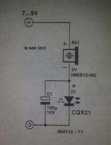 Basic alarm indicator Schematic diagram