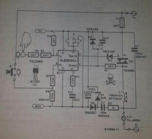 CMOS dimmer Schematic diagram