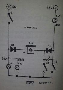Car lights alert Schematic diagram