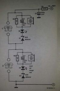 House telephone Schematic diagram