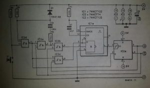 Real-time switch debounce Schematic diagram
