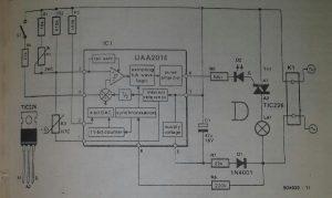 Single-chip temperature control Schematic diagram