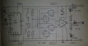 Plant humidity monitor Schematic diagram