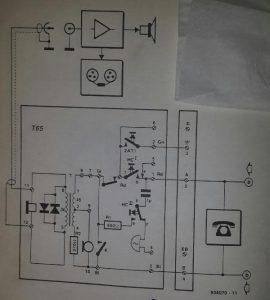 Telephone monitor Schematic diagram
