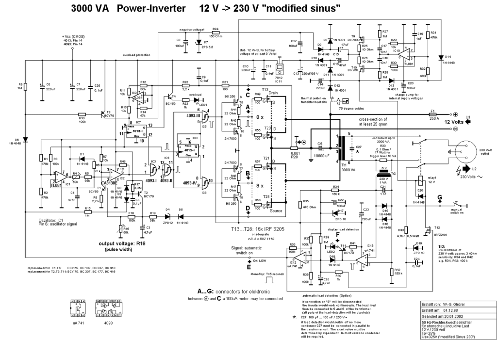 UPS Schematic Circuit Diagram dc to ac