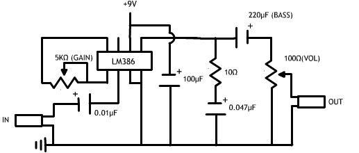 circuit diagram of high power audio amplifier
