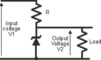 1-simple-circuit-of-a-zener-diode-shunt-regulator Zener diode