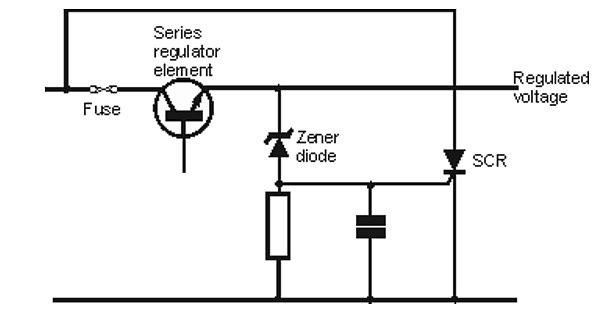 3-scr_overvoltage_crowbar_circuit Zener diode