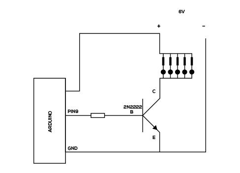 2A2222 transistor Arduino