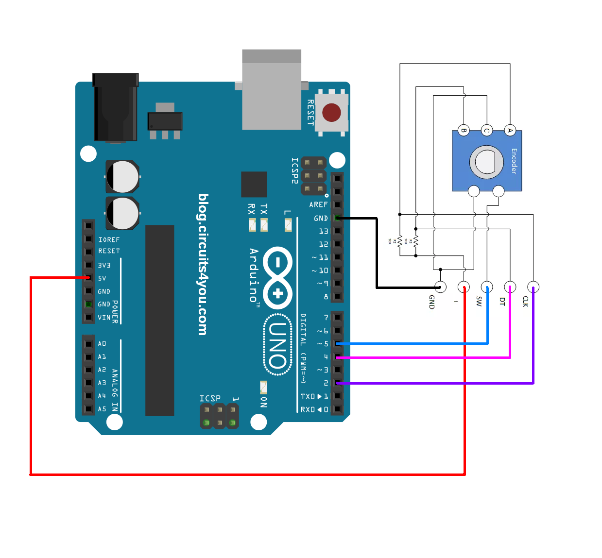 arduino rotary encoder wiring rh circuit diagramz com Dynapar Encoder Wiring-Diagram Encoder Wiring Colors
