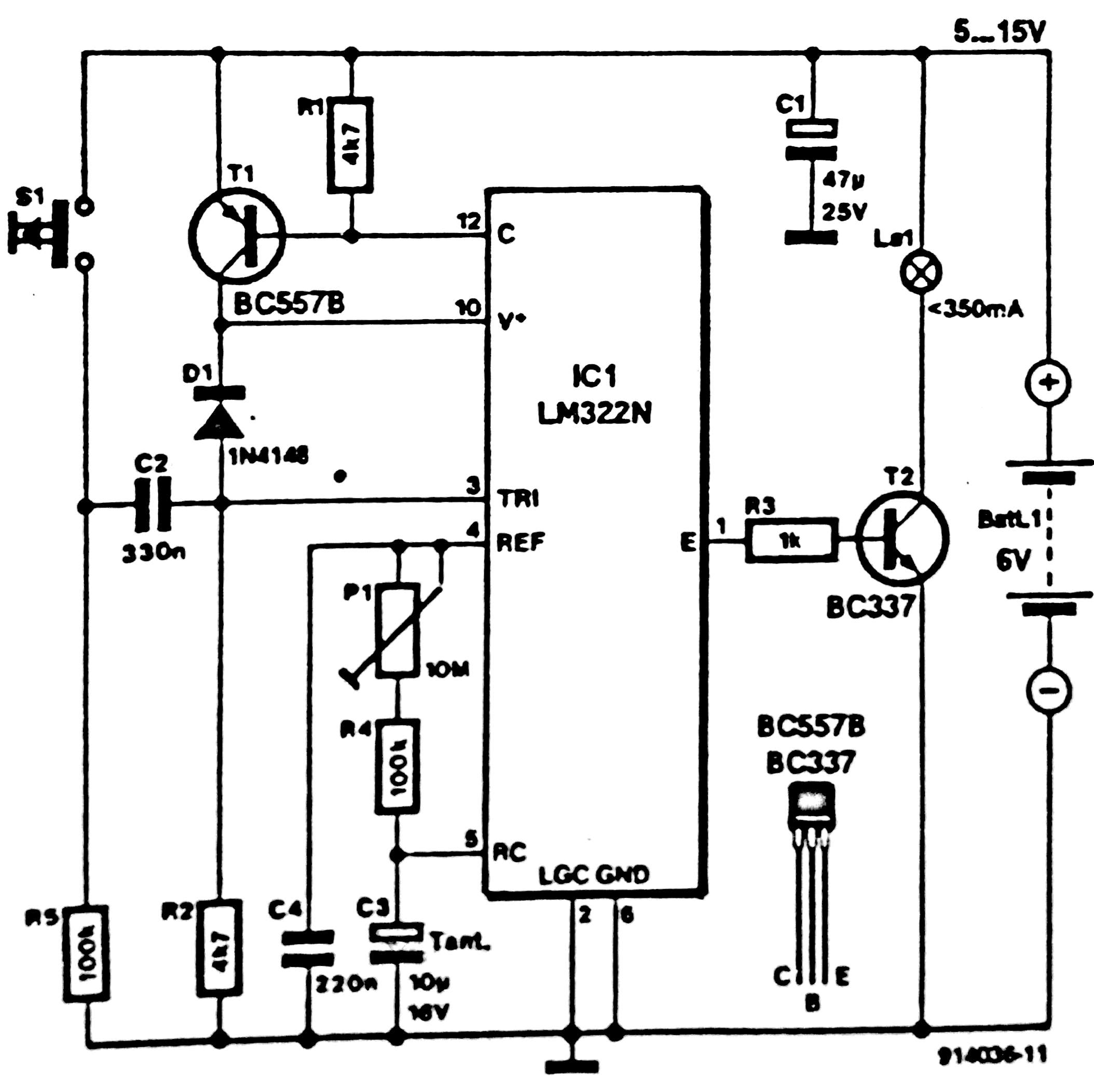 Auto Power off for Audio Equipments Circuit Diagram