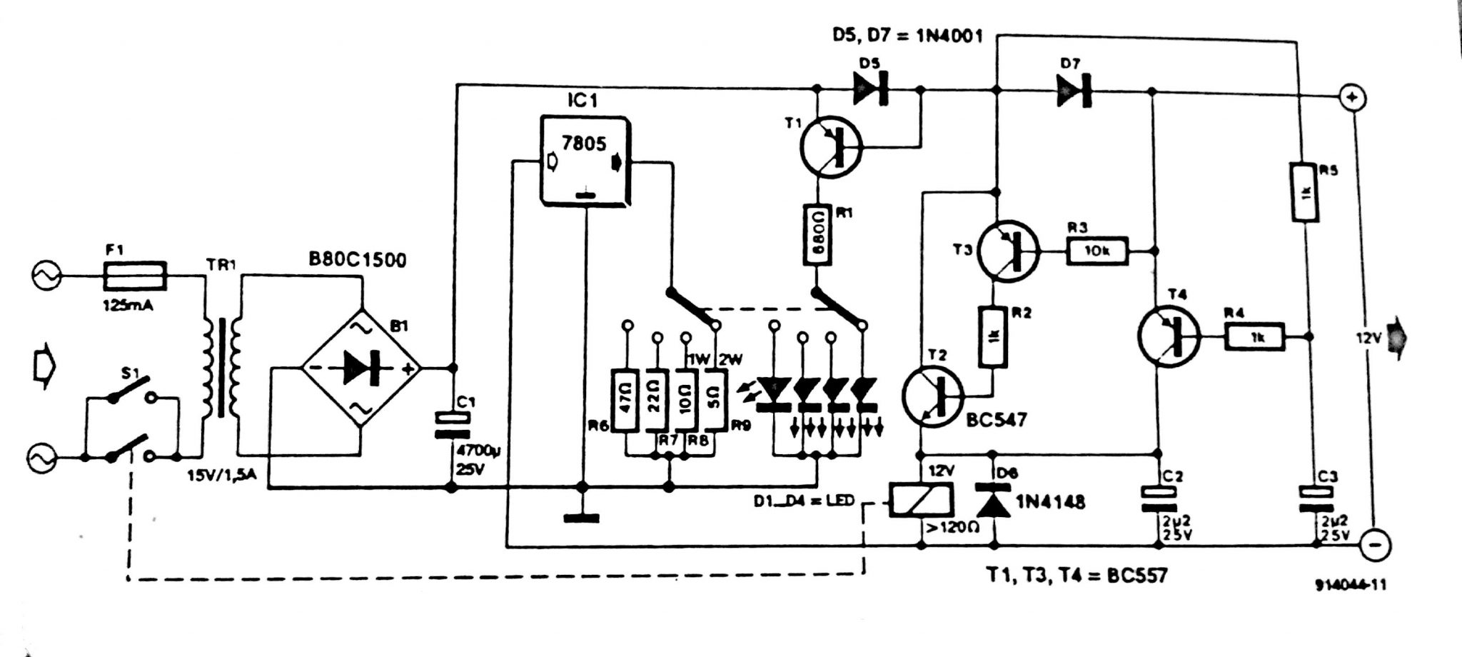 Automatic battery Charger Crcuit Diagram
