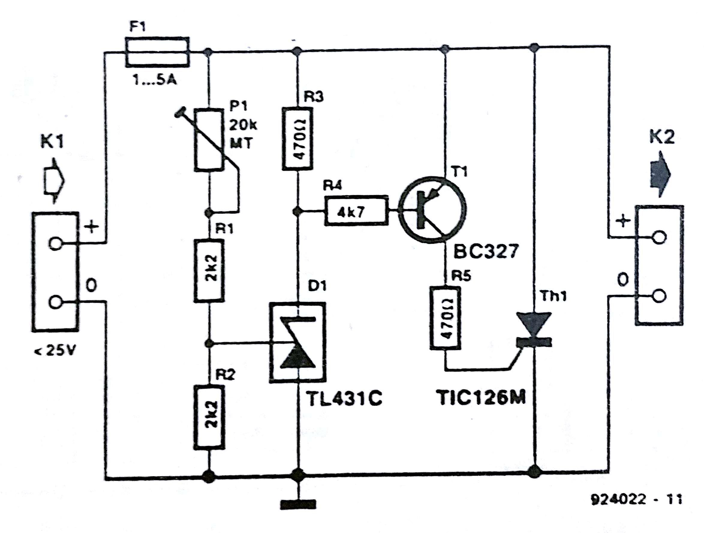 crowbar over voltage protection circuit diagram rh circuit diagramz com Residential Electrical Wiring Diagrams Basic Electrical Wiring Diagrams