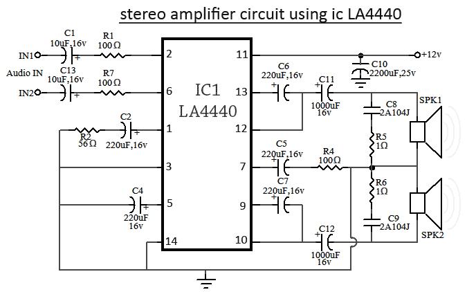 la4440 ic amplifier circuit diagram rh circuit diagramz com integrated circuit block diagram simple integrated circuit diagram