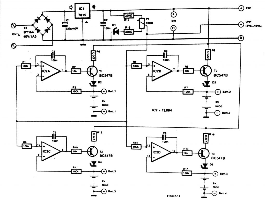 NiCd Battery charger Circuit diagram