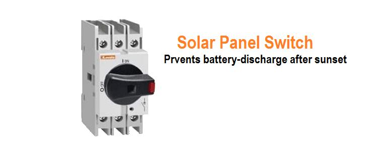 Solar Panel Switch Circuit Diagram