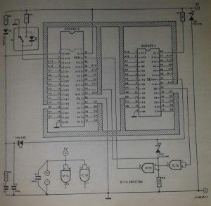 1-Mbit adaptor for EPROM programmer Schematic diagram