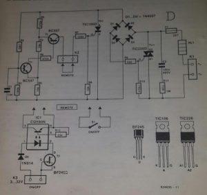240 V a.c. -to-110 V a.c. converter Schematic diagram