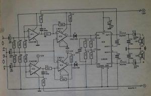 3 Watt PWM stereo amplifier Schematic diagram