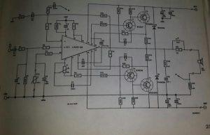 60 Watt music amplifier Schematic diagram